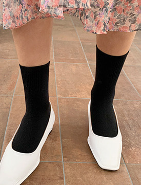 Golgi simple color socks_C (size : one)