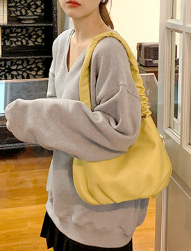 Wrinkle strap shoulder bag_J (size : one)
