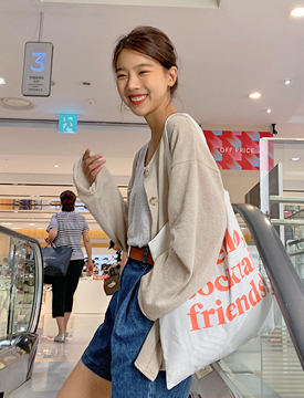 Creamy loose linen cardigan_A (린넨 25%) (size : free)